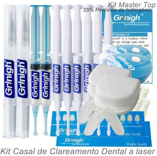 Kit Casal Master Top De Clareamento Dental A Laser Home Kit Com 35