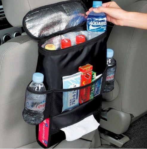 Bolsa organizadora para carro / Cabide de encosto com Bolsa Térmica