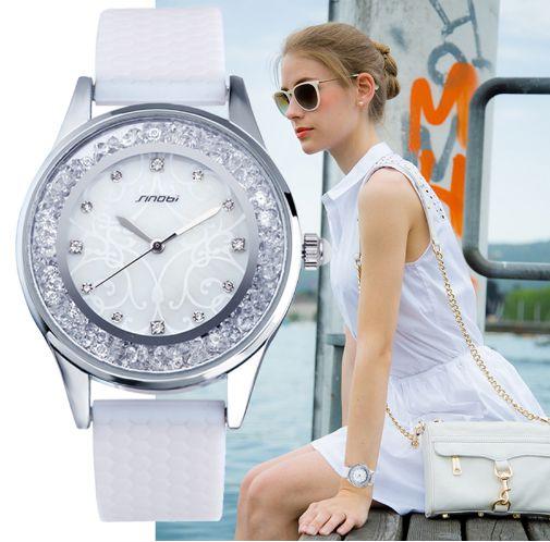 Relógio Sinobi Cristal Branco