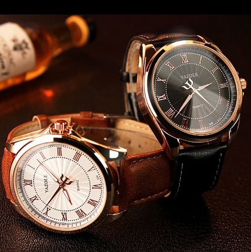 Relógio Yazole Luxo romano