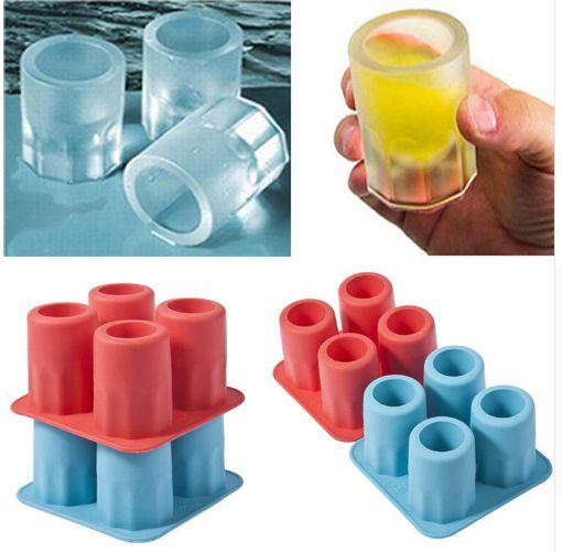 Formas de Silicone para gelo e chocolate Copo ice shot/ Faz 4 Shots