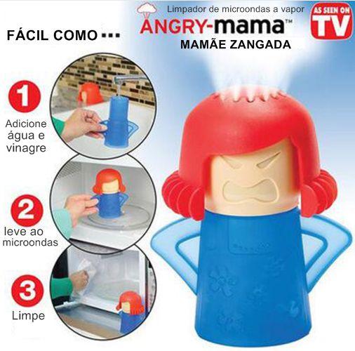 Mamãe zangada Limpador de microondas a Vapor