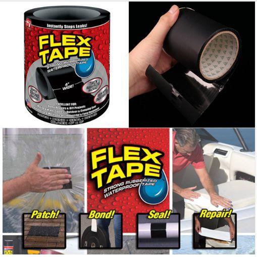 Super Fita adesiva Flex Tape 10x150cm / cola tudo - a prova d'água