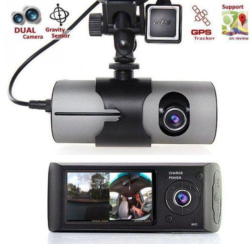 Câmera Veicular DVR X3000 Dupla Lente / Com zoom digital gravação e gps