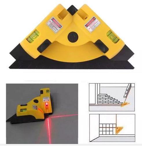 Nível a Laser - 90 graus Horizontal e Vertical - Esquadro de canto