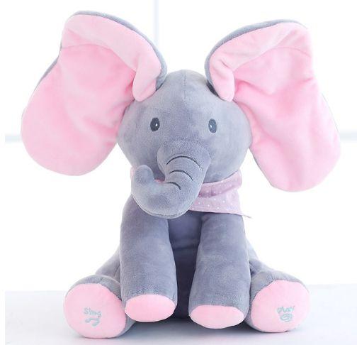 Elefantinho de pelúcia Peek a Boo