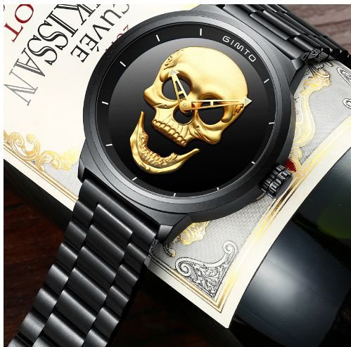 Relógio Caveira Gimto Crânio 3D + Brindes