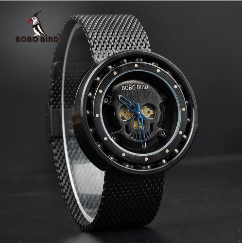 Relógio Bobo Bird - Modelo Rotação Q21 Crânio