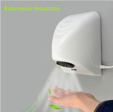 Secador de mãos elétrico Ar quente com sensor automático