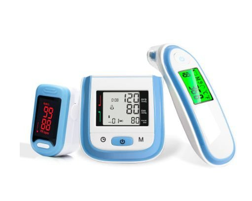 Kit Infantil de Saúde - Com termometro infrared, medidor de pressão arterial e Oxímetro portátil.