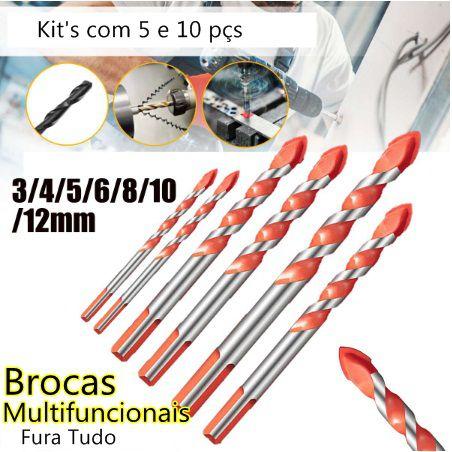 Super Kit de Brocas Multifuncionais - Fura Tudo