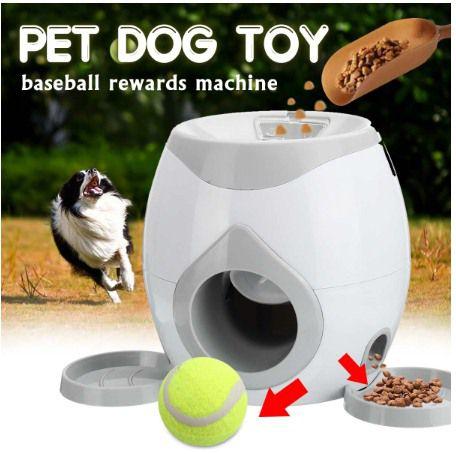 Pet Dog Toy Máquina de Bola de recompensa para animais de estimação - Lançador Automático