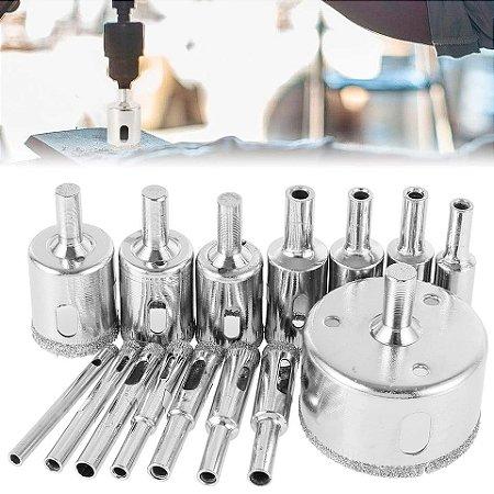 Super Bicos Diamantados - Serras de copo Profissionais - 15 peças
