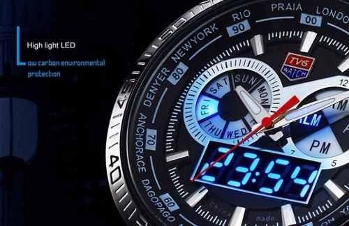 Relógio de luxo TVG Led seals elite Original