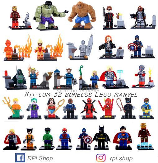 Lego Marvel / Lote com 32 bonecos