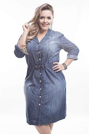 Vestido Plus Size Jeans Paris