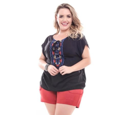 Shorts Plus Size Suede Rubi