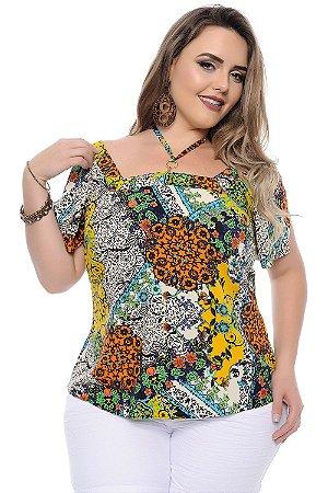 Blusa Plus Size Celeste