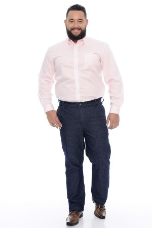 Calça Masculina Plus Size Jeans Risca