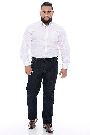 Calça Masculina Plus Size Jeans Black