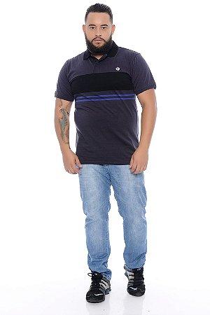 Calça Masculina Plus Size Jeans Delavê