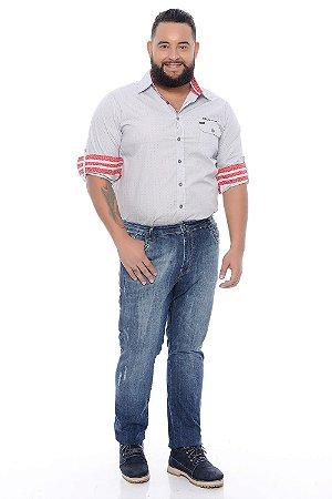 Calça Masculina Plus Size Jeans Slim