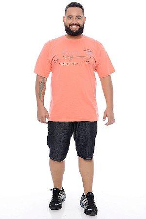 Bermuda Masculina Plus Size Jeans Caleb
