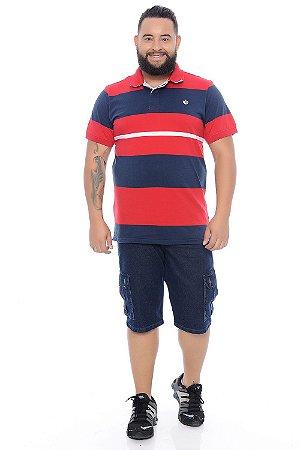 Bermuda Masculina Plus Size Jeans Diogo