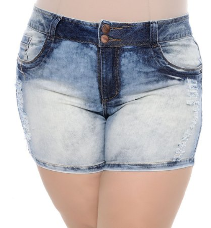 Shorts Plus Size Destroyed Thaeme