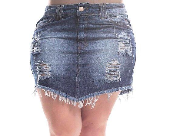 Saia Plus Size Jeans Destroyed