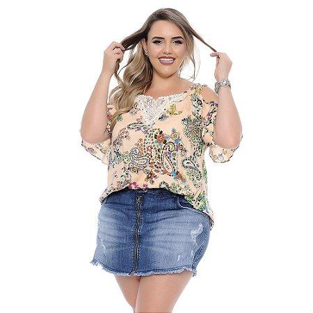 Shorts Saia Plus Size Luiza
