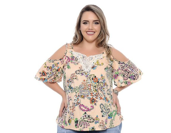 Blusa Plus Size Rose