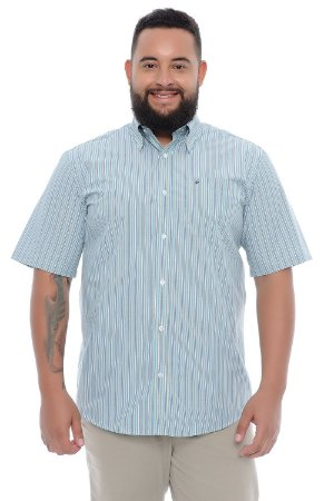 Camisa Masculina Plus Size Esmeralda
