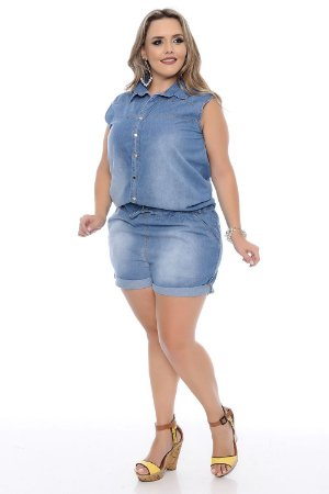 Macaquinho Plus Size Deanna