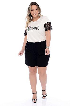 Shorts Plus Size Com Elástico Iori