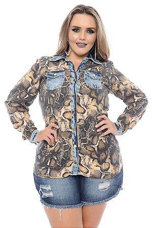 Camisa Plus Size Yuffa