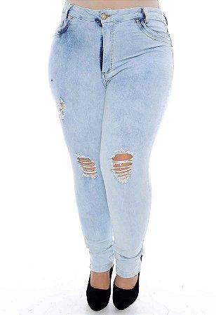 Calça Plus Size Skinny Cropped