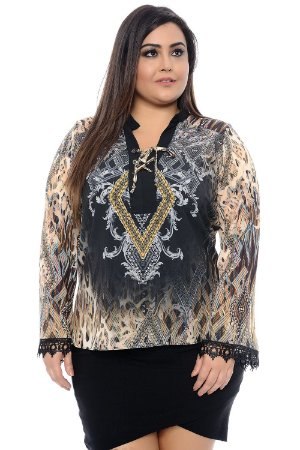 Blusa Plus Size Madelaine