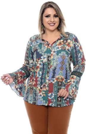 Camisa Plus Size Nancy Sinatra