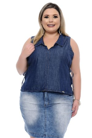 Blusa Plus Size Cropped Vi