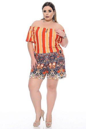 Macaquinho Plus Size Monica