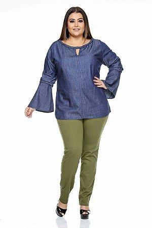 Blusa Jeans Plus Size Kenia