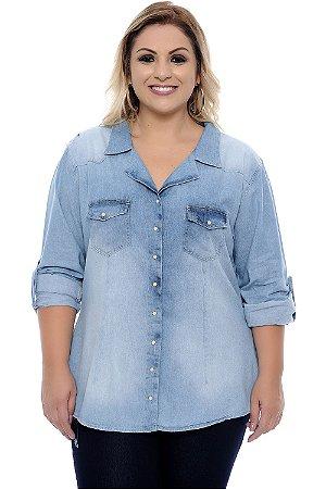 Camisa Jeans Plus Size Florencia