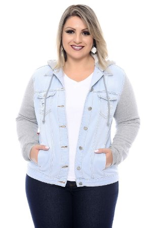 Jaqueta Jeans Plus Size Vangie