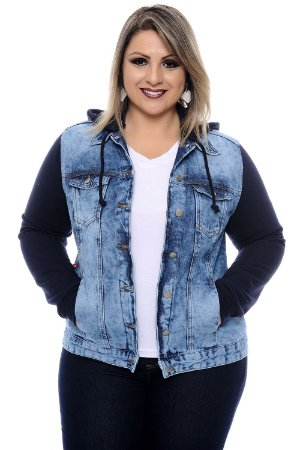 Jaqueta Jeans Plus Size Galyn