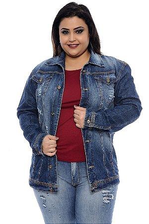 Jaqueta Jeans Plus Size Aisha