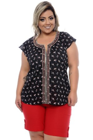Blusa Plus Size Margoh