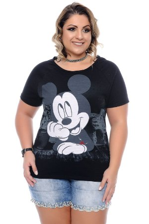 Blusa Plus Size Mickey Mickey
