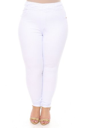 Calça Legging Plus Size White
