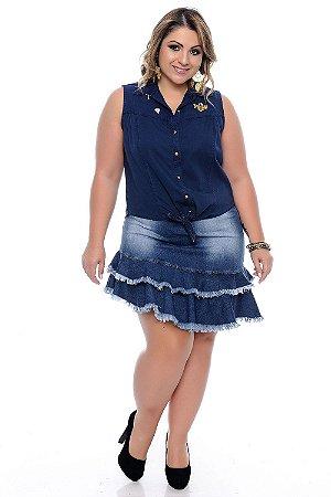Saia Jeans Plus Size Leidy